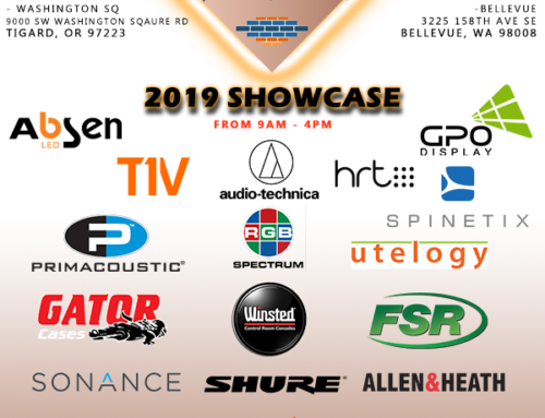 Come join us at the 2019 Showcase hosted by Muckle Sales and Brownstone A/V representatives!